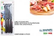 Marietti I17-1404 Coltelli Tavola horeka confezione 6 pezzi cm 11 Marrone