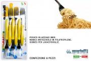 Marietti I222 Forchetta confezione 6 pezzi Giallo Tavola Allegra
