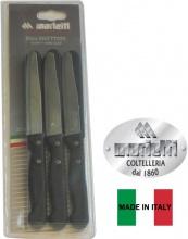 Marietti I240 Coltelli Tavola confezione 6 pezzi Manici Nero Articolo 24R-Bv6