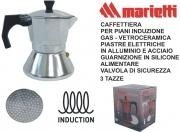 Marietti I300 Caffettiera Kicca 3 Tazze Acciaio Alluminio Induzione