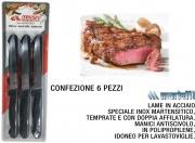 Marietti I900026 Coltello Bistecca confezione 6 pezzi Anatomica