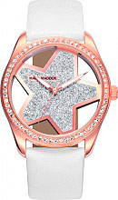 Mark Maddox MC6006-30 Orologio Donna Analogico Acciaio e Cinturino Pelle Oro Rosa MC6006