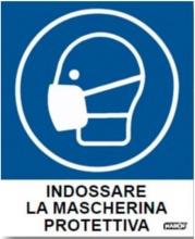 """Markin X110COV-4 Segnaletica Ufficio """"Indossare la Mascherina"""" cf 2 fogli"""