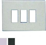 Marlanvil 1863.3F Coprinterruttore ABS Fissaggio a scatto 3 posti Bianco