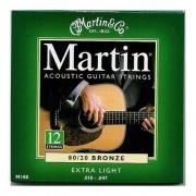 Martin MA180 Muta 12 corde acustica & Co. Confezione 12 Corde Corde Mart