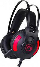 Marvo Cuffie Gaming con Cavo e Microfono Bassi profondi USB colore Rosso HG8804