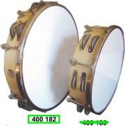 Master Music 400182 Tamburello prefessionale in legno e pelle 25cm