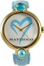 Mattiolo DAH1024 Orologio Donna Analogico cassa Acciaio e Cinturino Pelle Oro