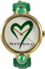 Mattiolo DAH824 Orologio Donna Acciaio Analogico al Quarzo Cinturino Pelle Verde