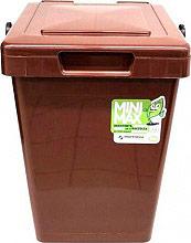 Mattiussi Ecologia MiniMax25 19007 Pattumiera Plastica 100% riciclabile 25 Lt Marrone 19007