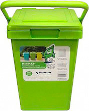 Mattiussi Ecologia MiniMax25 19067 Pattumiera Plastica 100% riciclabile 25 Lt Verde 19067