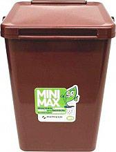 Mattiussi Ecologia Minimax10 19015 Pattumiera Plastica 100% riciclabile 10 Lt Marrone 19015