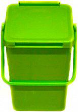 Mattiussi Ecologia Minimax10 19065 Pattumiera Plastica 100% riciclabile 10 Lt Verde 19065