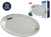Max Group X047603 Vassoio Ovale cm 30 Inox Max