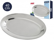 Max Group X047610 Vassoio Ovale cm 40 Inox Max