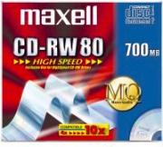 Maxell 626001 Confezione 10 PZ CD-RW 700 Mb 1-10x HighSpeed JC 10pk