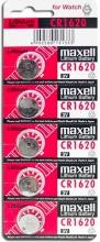 Maxell CR1620 Numero 5 batterie 3V con diametro 16 mm alta 2 mm