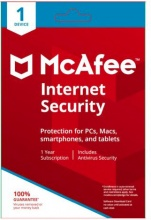 McAfee MIS00INR1RAA Internet Security 1 Dispositivo 1 anno Windows Mac Android