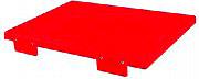 Mc Ristorazione 5596 Tagliere con fermi 30x40x2 cm H.A.C.C.P Rosso alta densità