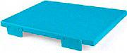 Mc Ristorazione 5602 Tagliere con fermi 30x40x2 cm H.A.C.C.P Blu PE alta densità