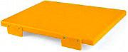 Mc Ristorazione 5626 Tagliere con fermi 30x40x2 cm H.A.C.C.P Giallo alta densità