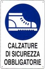 Mchr ALL13730 Cartello Calzature Sicurezza 20x 30 Alluminio