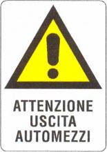 Mchr POL11017 Cartello Uscita Automezzi 48x 68 Plastica
