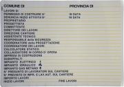 Mchr POL11030 Cartello Concessione Edilizia 98x 68 Plastica
