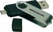 Mediacom Pen Drive 16 GB Chiavetta Micro USB per smartphonePC Notebook MUD16OTG