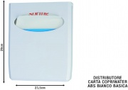 Medial International M130010 Distributore Carta Copriwater Abs Bianco Basica