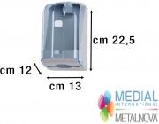 Medial International M908125 Distributore Carta Igienica Trasparente