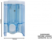 Medial International M908140 Dispenser Sapone Liquido litri 0.5 Trasparente
