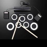 Medion 50058076 Batteria Elettrica 7 Pad Elettronici + Bacchette e tappeto Nero