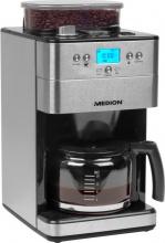 Medion MD 16893 Macchina Caffe Americano con Macinacaffè 10 Tazze 1000 W Inox