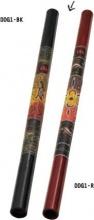 Meinl 301281 Didgeridoo Bastone della pioggia a fiato in bamboo nerorosso