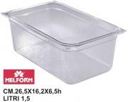 Melform L4141 Vaschetta Diamond Gastronorm 14 h.6.5 cm 26.5x16.2 litri 1.5