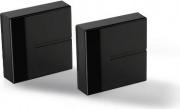 Meliconi 480524 Sistema Copricavi componibile 20x20cm Nero  Ghost Cubes Cover