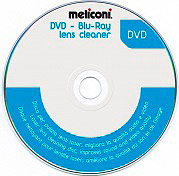 Meliconi DVD BLURAY LENS CLEANER Disco per pulizia lenti laser lettori DVD - DVD Cleaner