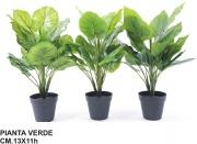 Mercury R40608 Pianta Verde in Vaso Con 21 Foglie cm 13x11hx54h