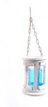 Mercury R49178 Lanterna Portacandela in Legno cm 14.5x19h Con Catena e Gancio