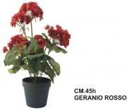 Mercury R58488 Pianta Geranio Rosso in Vaso cm 45