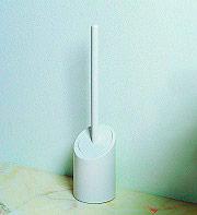 Metaform 110-149-002 Scopino Bagno WC con Portascopino da Terra in ABS Bianco