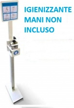MetalPlus 50152 Piantana Porta dispenser gel disfettante mani 500 ml h 1250 mm