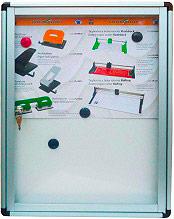 MetalPlus 21802 Bacheca Porta Avvisi magnetica con serratura 450x40x600h mm