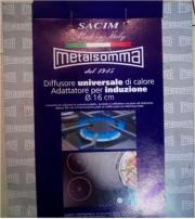 Metalsomma 21816 Piastra per induzione 16 cm Acciaio inox