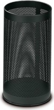 Methodo F450265 Cestino per rifiuti Rotondo Nero Metallo
