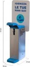 Methodo F572015 Dispenser Gel disinfettante Sapone liquido Acciaio Inox e PVC