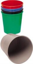 Methodo X851103 Cestino Gettacarte Rotondo 15 Litri in Plastica colore Nero PS98