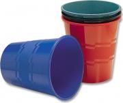 Methodo X851205 Cestino Gettacarte Rotondo 20 Litri in Plastica colore Blu PS94