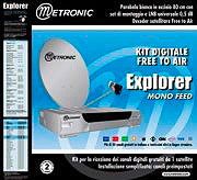 Metronic Kit satellitare Parabola D 80cm + Decoder satellitare Explorer 428780